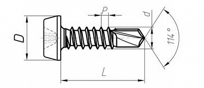 SELF-TAPPING SELF-DRILLING CHEESE HEAD SCREWS TU BY 400024166.014-2008